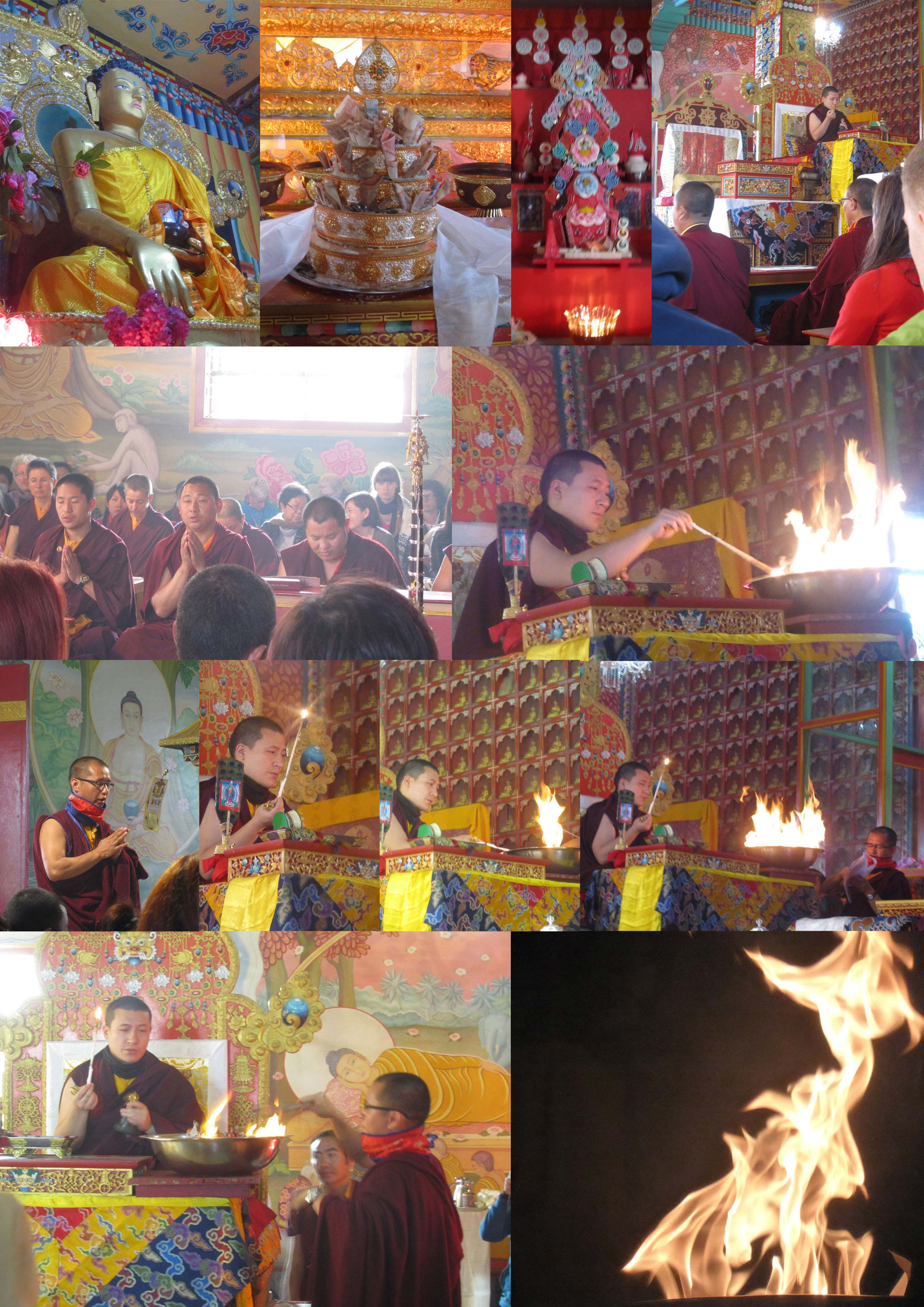 Kagyü Mönlam - Feuer-Puja für die Verstorbenen 2013 / Kagyu Moenlam 2013 Fire-Puja for the deceased - fotocredits/copyright: Gerold Jernej