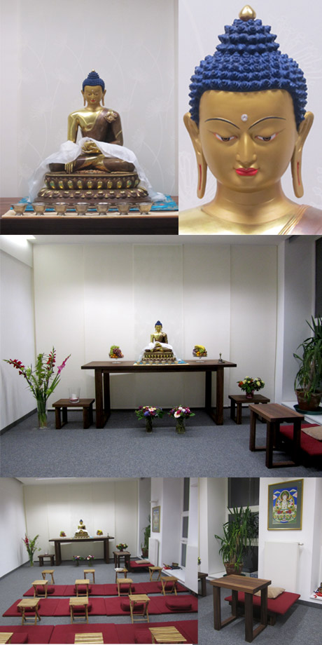 Karma Samphel Ling, Wien - Meditationsraum / Meditationroom of Karma Samphel Ling, Vienna - fotocredits/copyright: Gerold Jernej