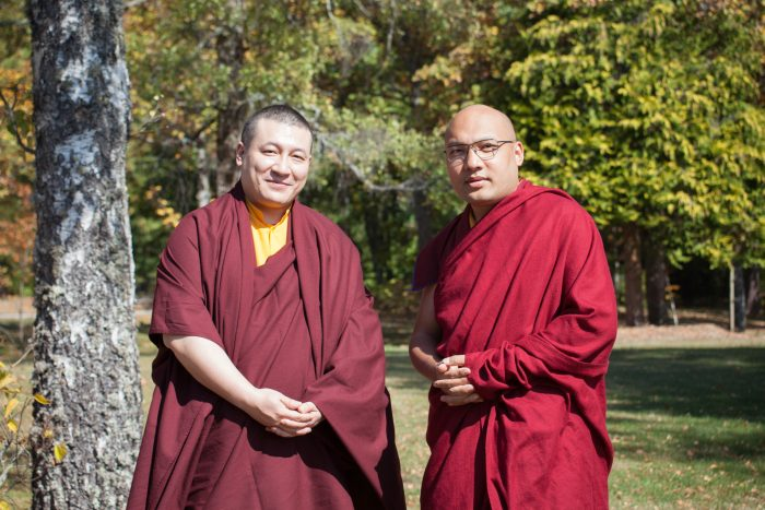 His Holiness Trinley Thaye Dorje and His Holiness Ogyen Trinley Dorje